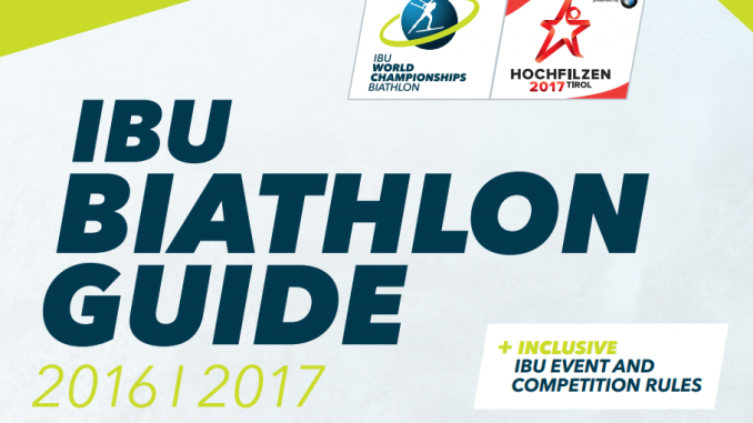 IBU Biathlon Guide 2016/2017